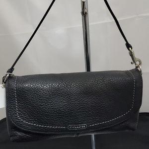 Coach Park Leather Large Flap Wristlet 49177